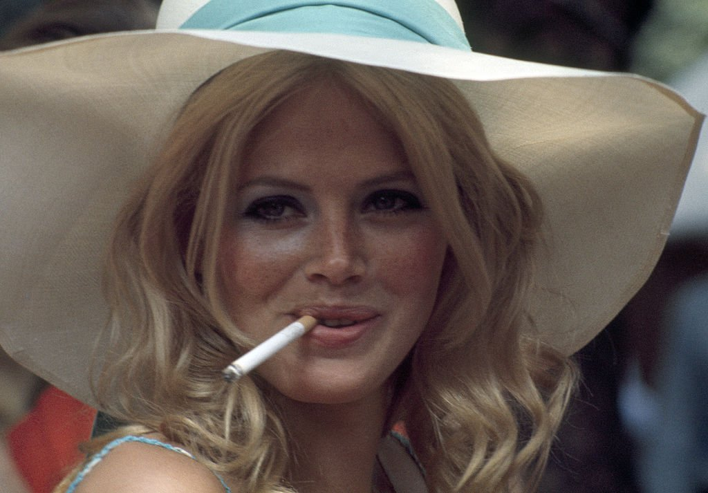 Britt Ekland attending a charity fete in London, circa 1971.   Photo: Getty Images