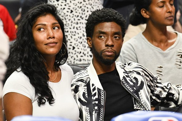 Chadwick Boseman at a basketball game at Staples Center on October 22, 2019 | Photo: Getty Images