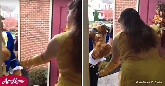Dad dresses as Beast and surprises daughter with autism in fairytale dance