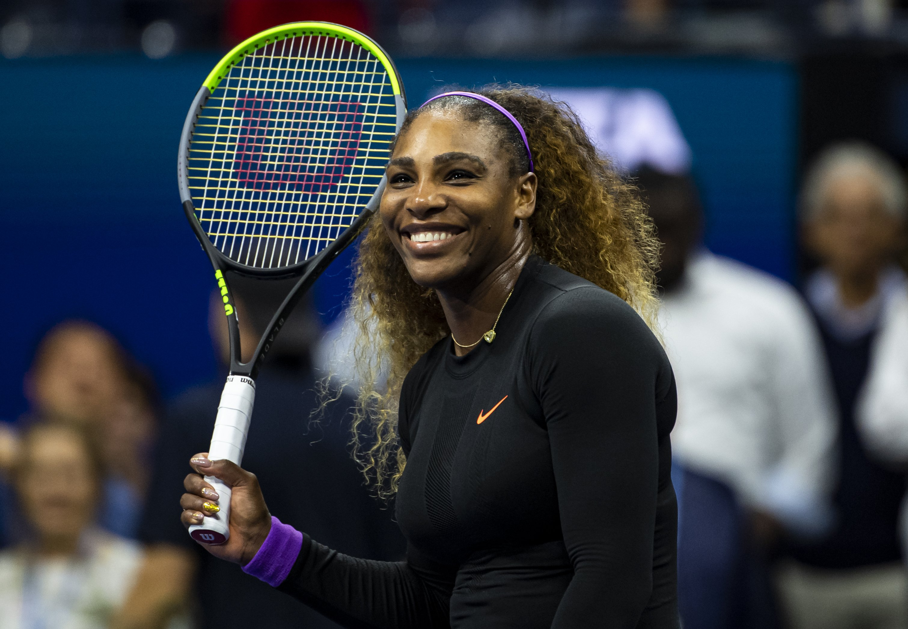 Serena Williams at Arthur Ashe Stadium at the USTA Billie Jean King National Tennis Center on September 05, 2019 in New York City.| Source: Getty Images
