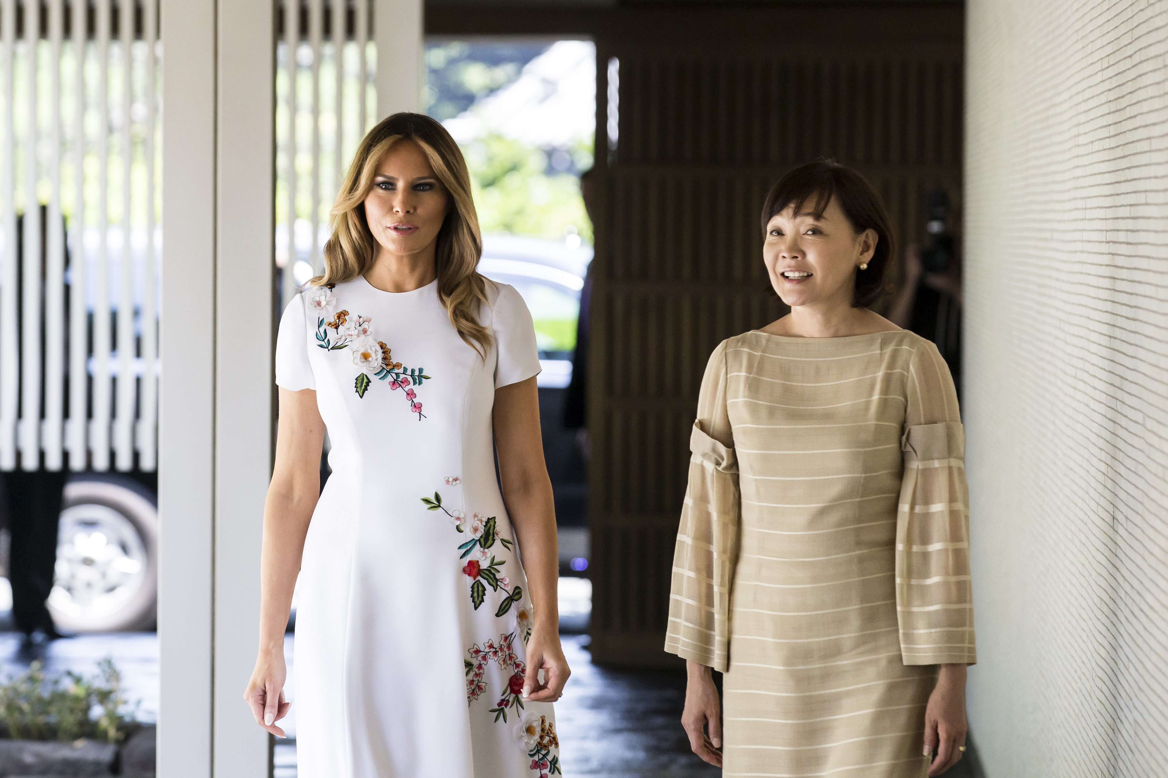 First Lady Melania Trump and Japan's Prime Minister's wife Akie Abe in May 2019 | Photo: Getty Images