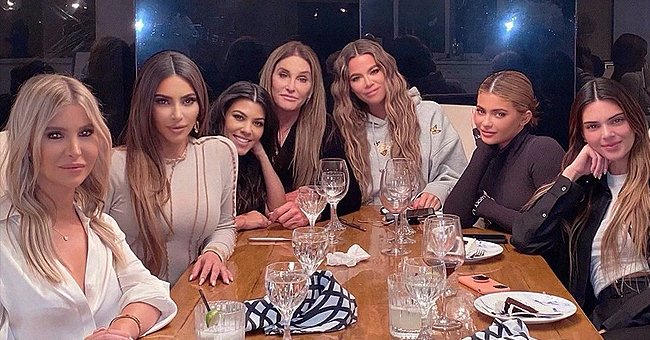 Caitlyn Jenner, Sophia  Hutching and the Kar-Jenner clan.   Photo: Getty Images
