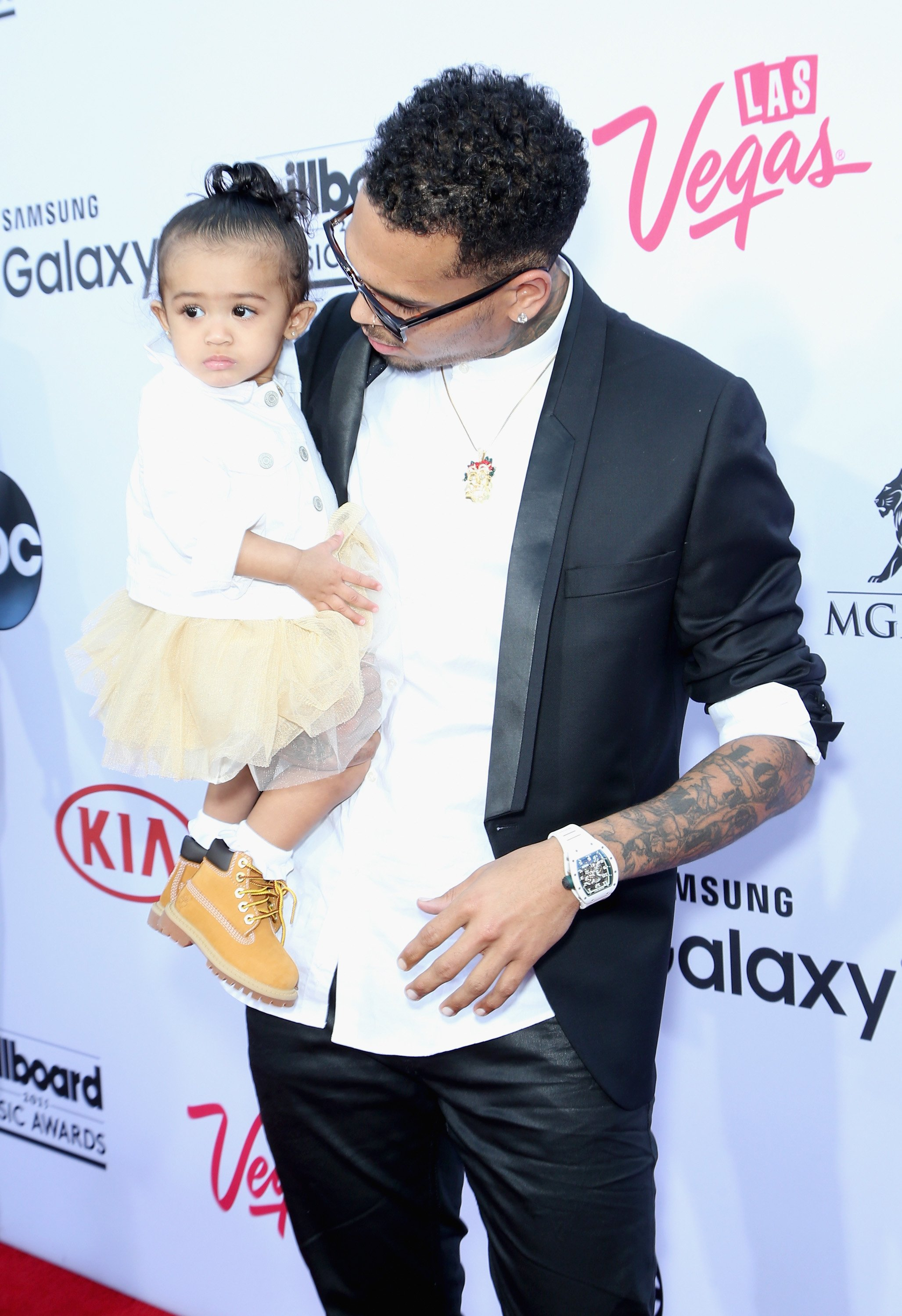 Chris Brown and his daughter Royalty at the 2015 Billboard Music Awards in Las Vegas, Nevada | Source: Getty Images