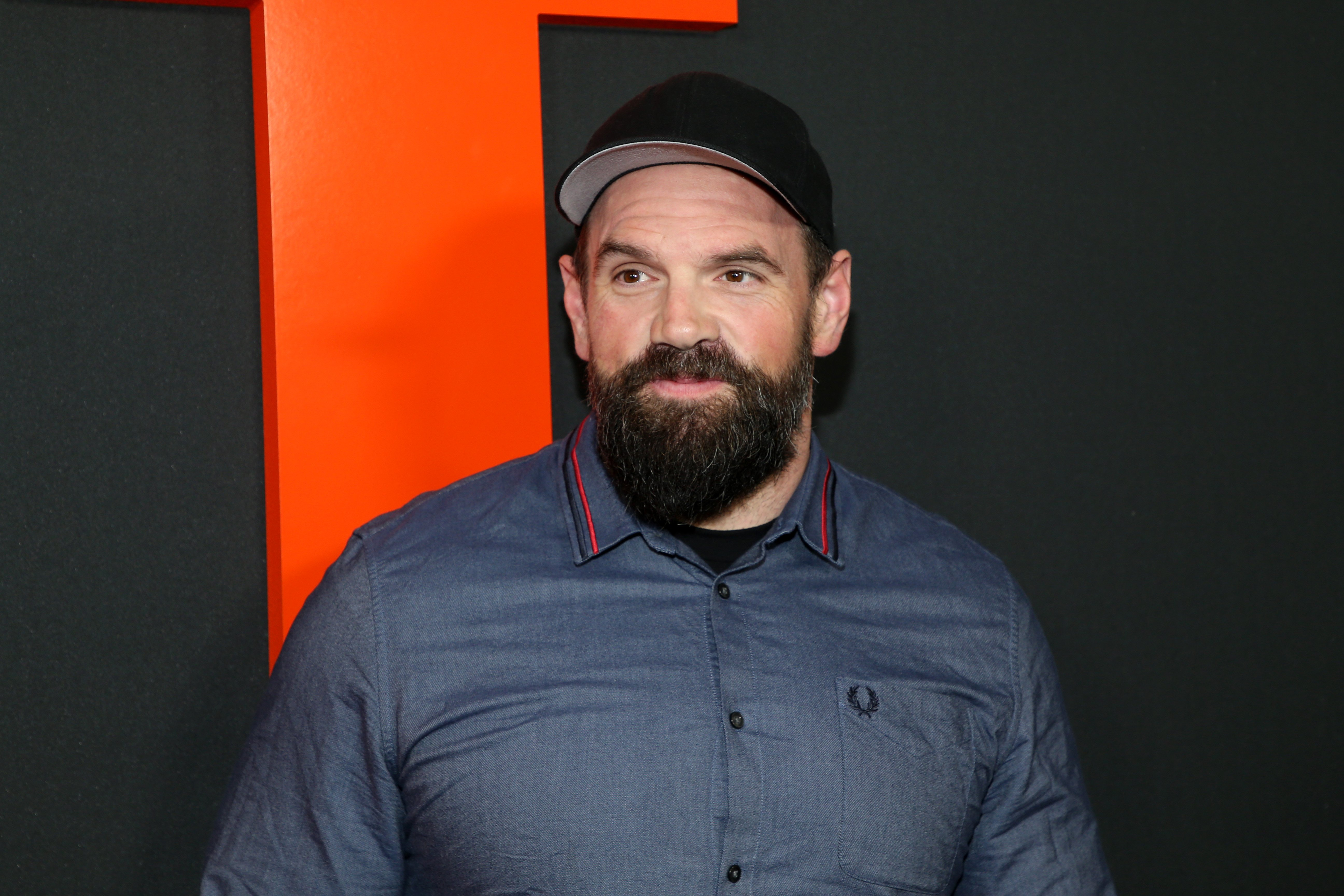 """Ethan Suplee pictured attending the premiere of Universal Pictures' """"The Hunt,"""" March, 2020, California. 