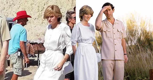 'Crown' Actress Emma Corrin Bears Striking Resemblance to a Young Princess Diana in Season 4 Photos