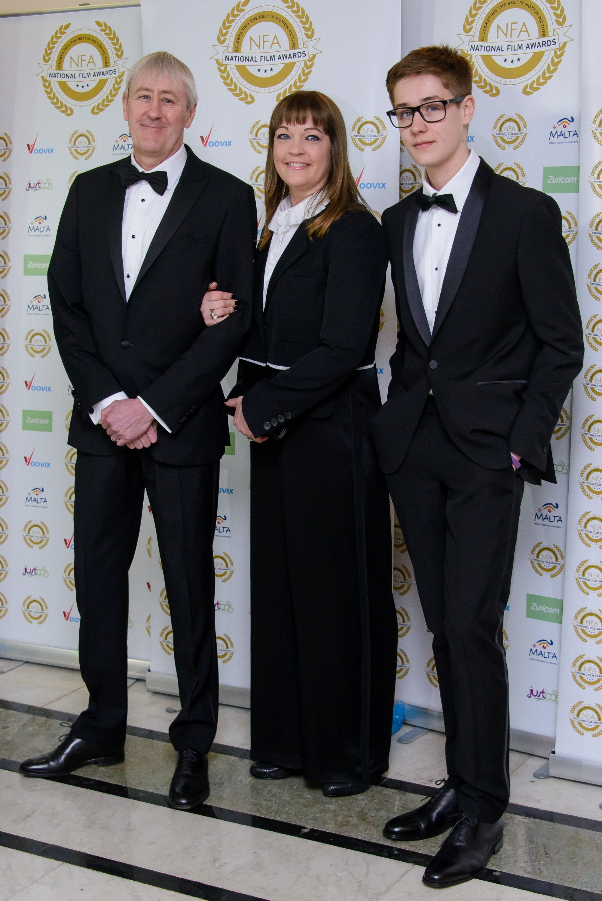 Nicholas Lyndhurst, Lucy Smith, and Archie Lyndhurst at the National Film Awards at Porchester Hall on March 29, 2017, in London, United Kingdom | Photo: Joe Maher/FilmMagic/Getty Images
