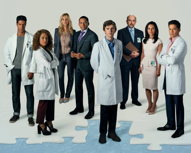 "The cast of TV series ""The Good Doctor"".