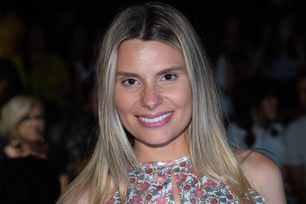 María Lapiedra asiste al desfile de moda de Dolores Cortés.  Fuente: Getty Images