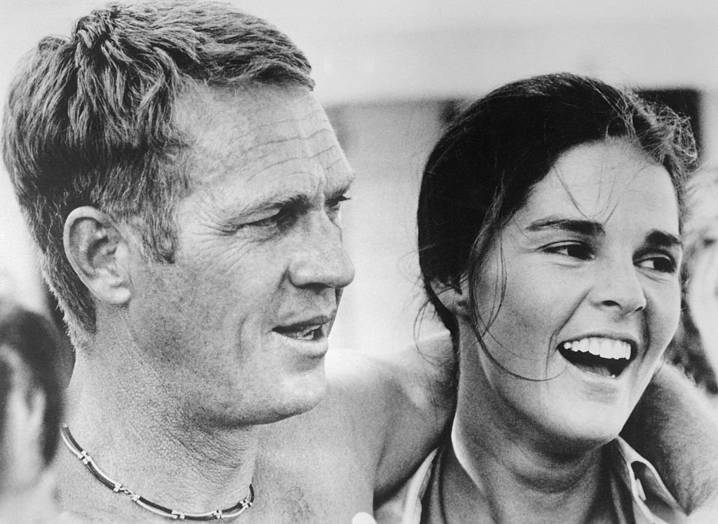 """Steve McQueen and Ali McGraw in a scene from the 1972 movie """"The Getaway."""" 