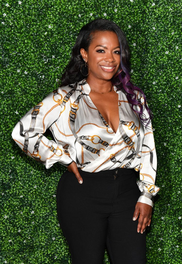"""""""RHOA"""" star Kandi Burruss attends the August 2020 Reelz on Wheels: A Drive-in Benefiting Meals on Wheels Atlanta in Georgia. 