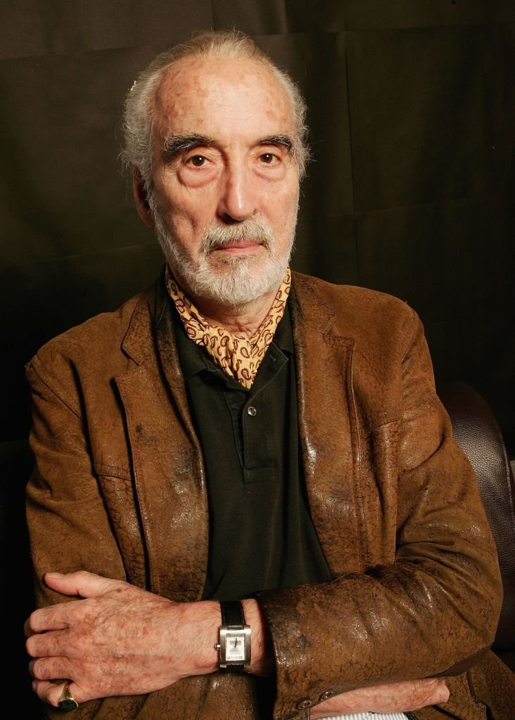 Late Christopher Lee poses during the Bangkok International Film Festival at Siam Paragon Festival Venue on February 20, 2006 in Bangkok, Thailand | Photo: Getty Images