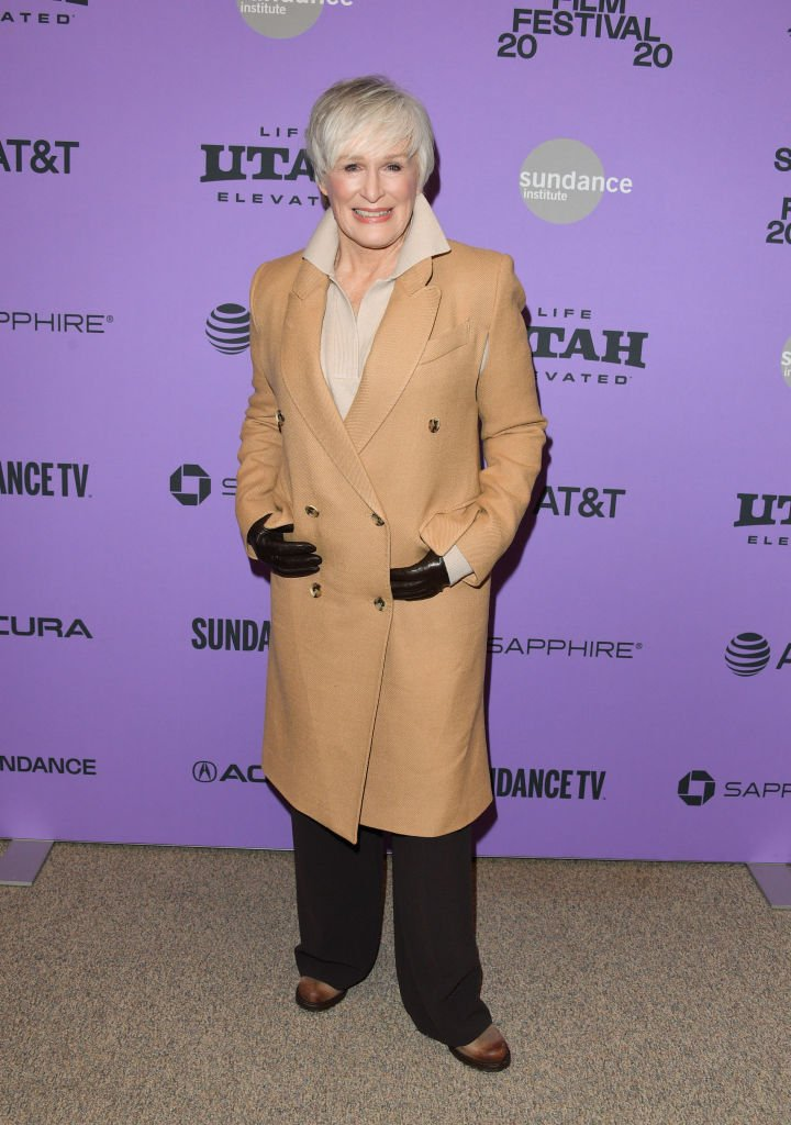 """Glenn Close attends the 2020 Sundance Film Festival premiere of """"Four Good Days"""" at Eccles Center Theatre on January 25, 2020 in Park City, Utah. 