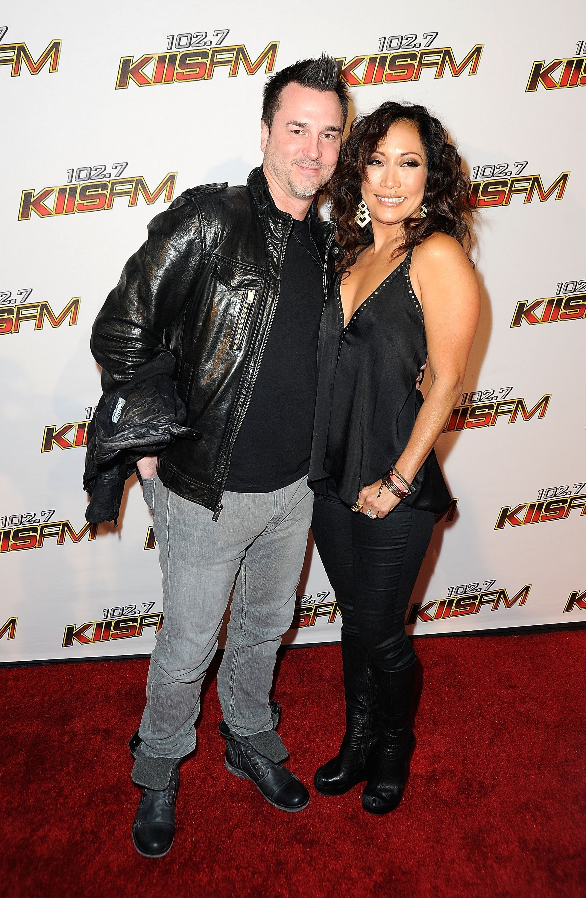Carrie Ann Inaba and Jesse Sloan arrive at the KIIS FM's Jingle Ball 2011. | Source: Getty Images