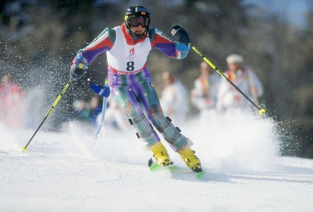 Blanca Ochoa Fernández en los Juegos Olímpicos de Albertville, Francia. | Imagen: Bob Martin/Allsport/Getty Images