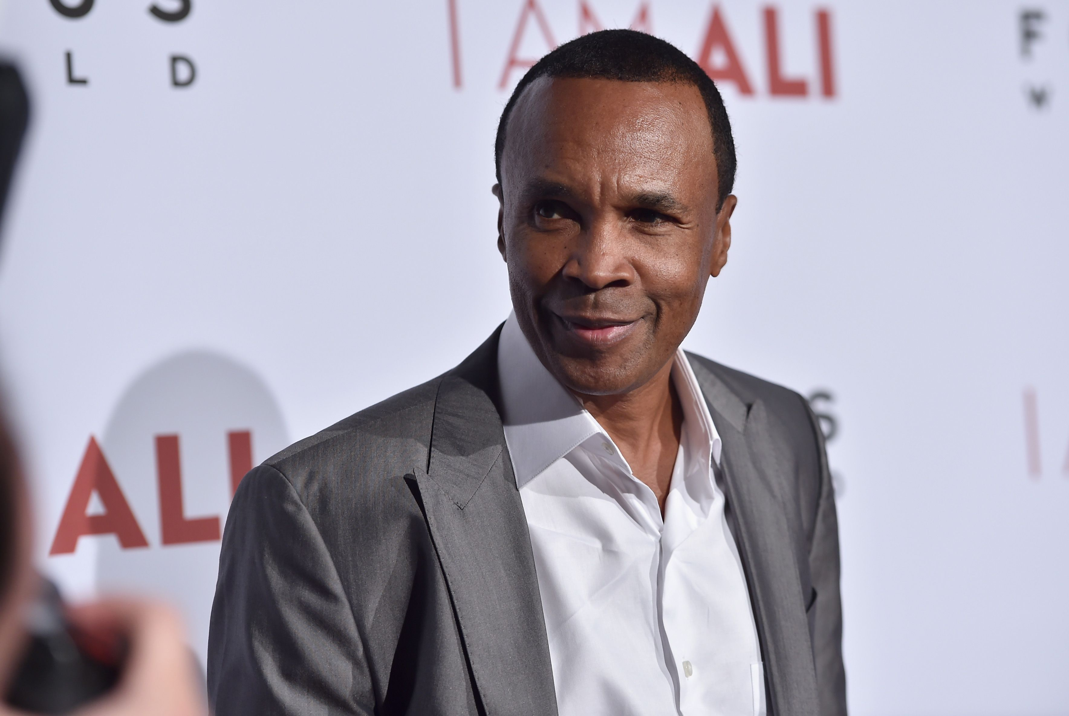 """Sugar Ray Leonard attends the Los Angeles premiere of Focus World's """"I Am Ali"""" at ArcLight Cinemas on October 8, 2014. 