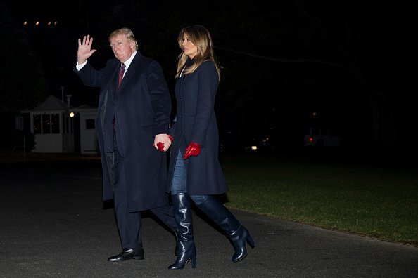 President Donald Trump and first lady Melania Trump arrive at the White House November 25, 2018 in Washington, DC | Photo: Getty Images