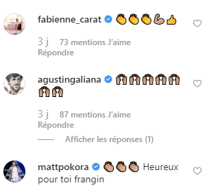 Commentaires des stars sur la photo de Slimane sur Instagram. | Photo : Instagram / slimane_officiel