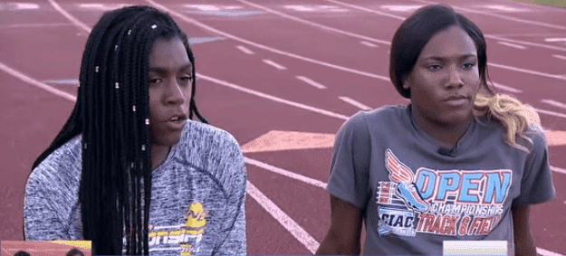 Andraya Yearwood and Terry Miller on a track field | Photo: YouTube/ABCNews