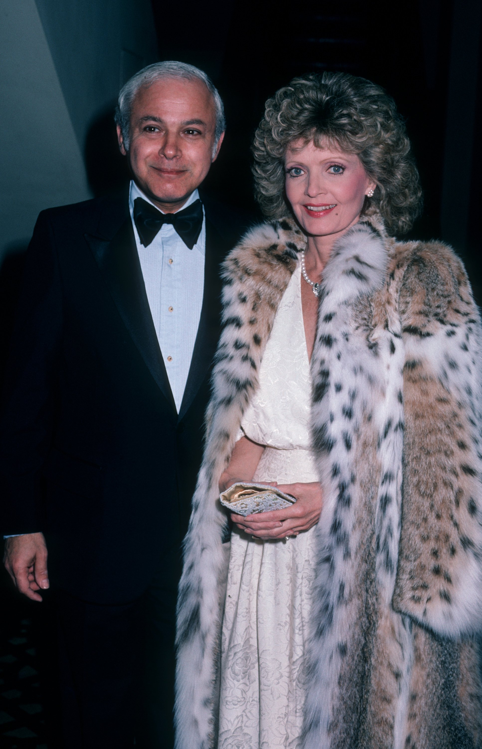 """Ira Bernstein and Florence Henderson at the """"Scopus Awards"""" on December 5, 1985, at the Century Plaza Hotel in Century City, California 