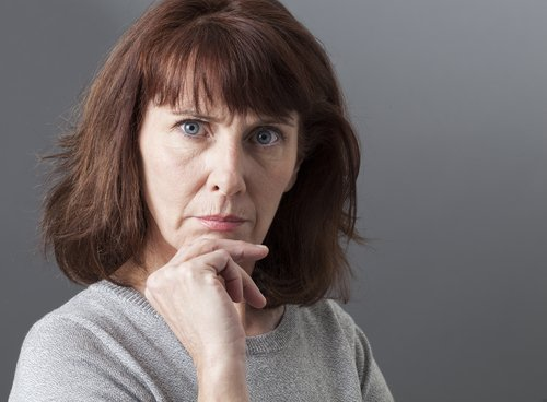 A displeased woman. | Source: Shutterstock.