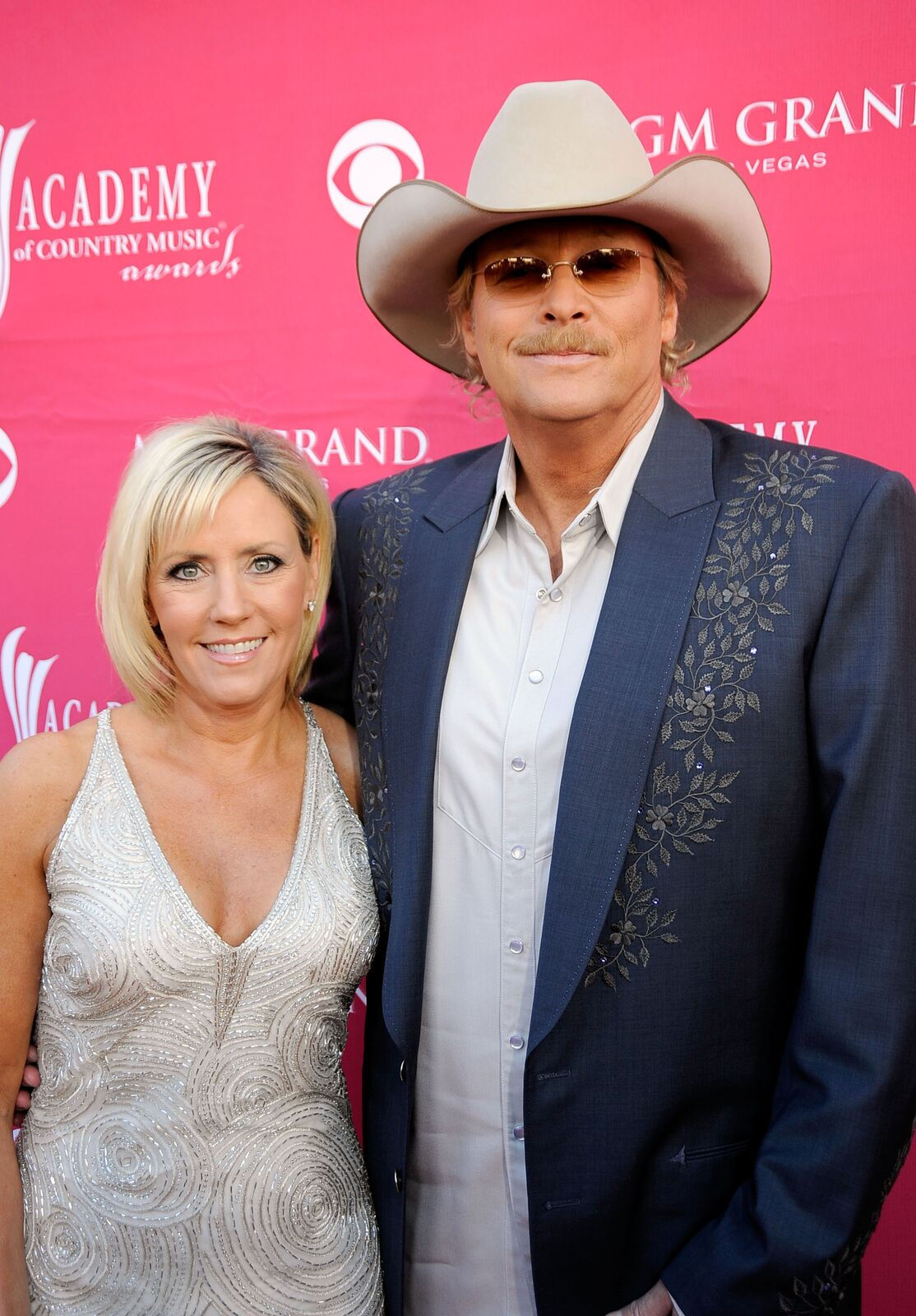 Denise Jackson and musician Alan Jackson arrives on the red carpet at the 44th annual Academy Of Country Music Awards held at the MGM Grand on April 5, 2009 in Las Vegas, Nevada | Photo: Getty Images