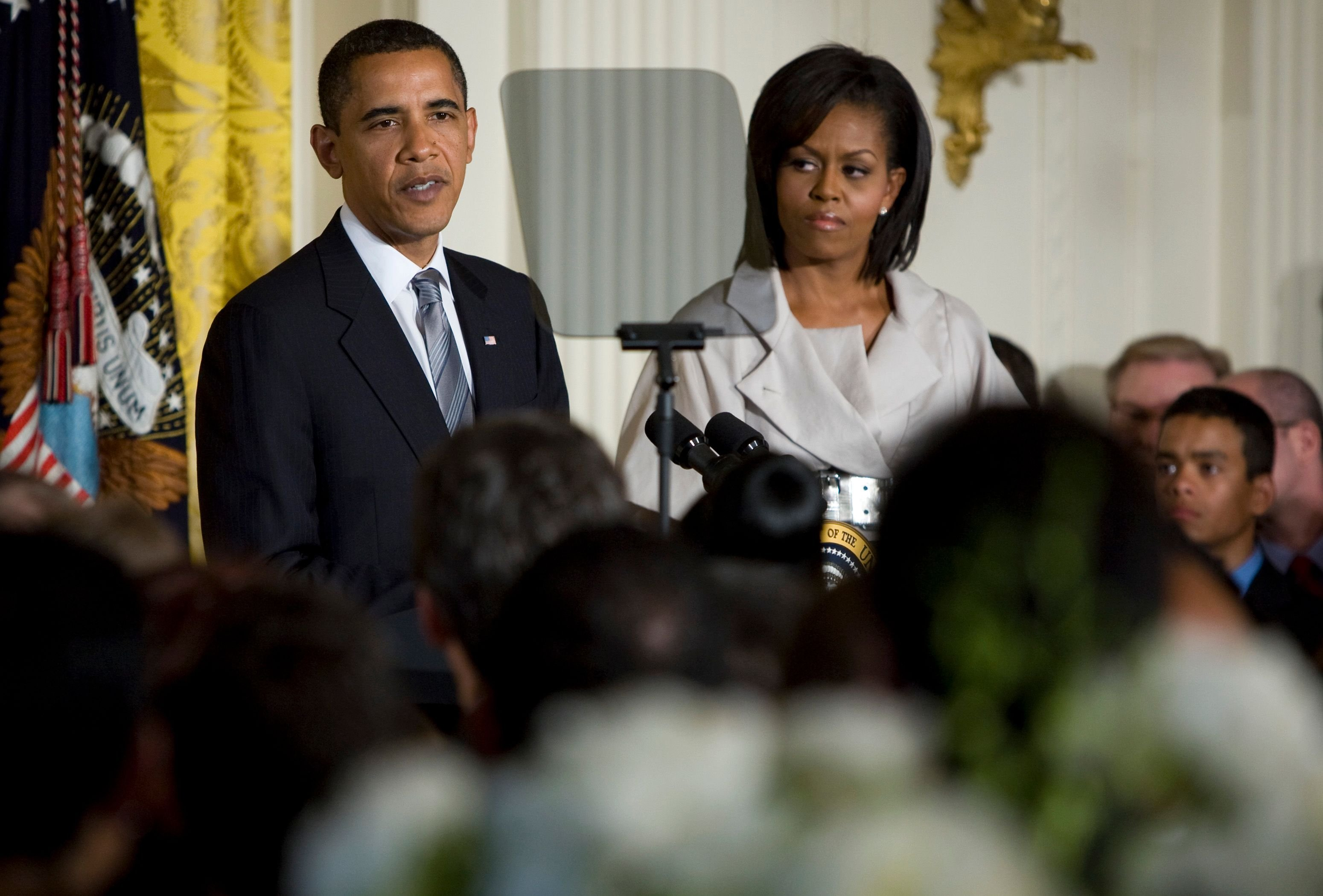 President Barack Obama and First Lady Michelle Obama host a reception for Lesbian Gay Bisexual Transgender Pride Month atthe White House on June 29, 2009, in Washington, D.C. | Photo:Kristoffer Tripplaar-Pool/Getty Images
