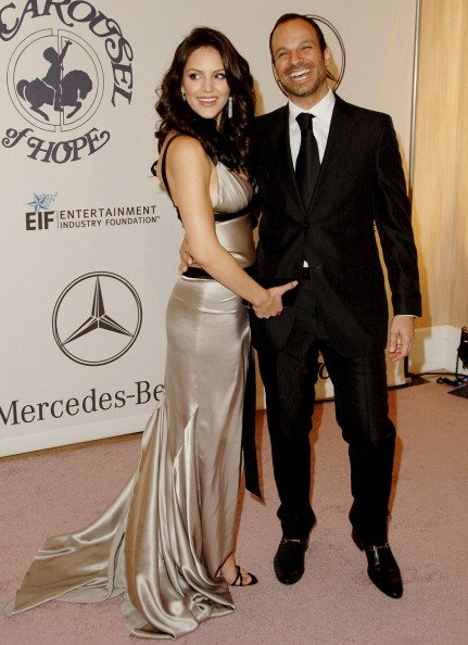 Katharine McPhee and Nick Cokas at the 17th Carousel of Hope Ball - Arrivals in Beverly Hills, California, United States.| Photo: Getty Images.