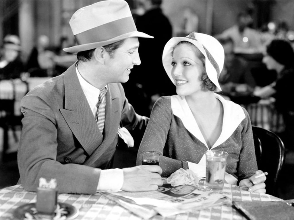 """Actress Loretta Young and Robert Williams in a scene from the movie """"Platinum Blonde"""" on January 01, 1931 