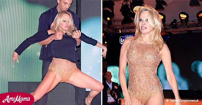 Pamela Anderson, 51, delivers racy dance performance sizzling in nude barely-there gold leotard