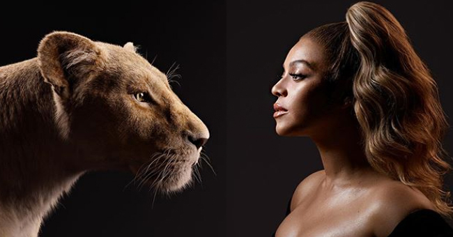 Beyoncé Comes Face-To-Face with Nala in New 'Lion King' Promo Pic