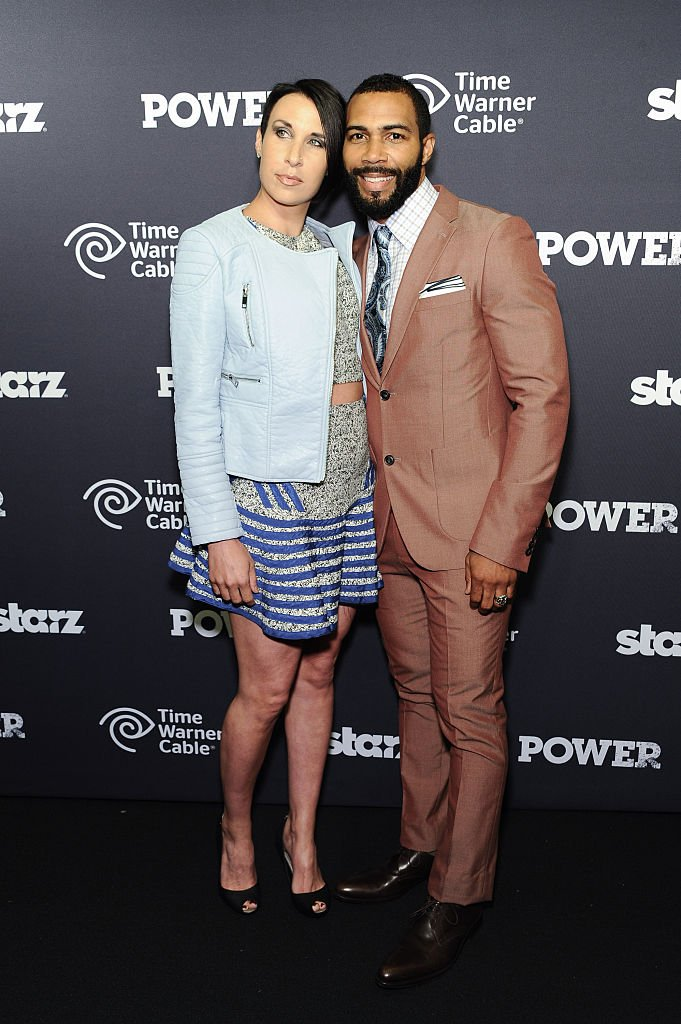 """Omari Hardwick (R) and wife Jae Pfautch attend the """"Power"""" Season Two Series Premiere at Best Buy Theater on June 2, 2015 in New York City 