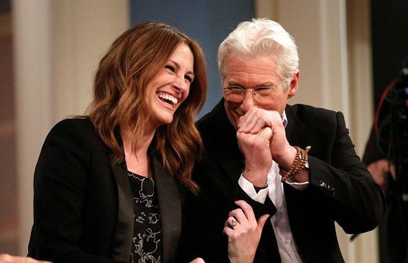 """Julia Roberts and Richard Gere appear on NBC News' """"Today"""" show in 2015.   Photo: Getty Images"""