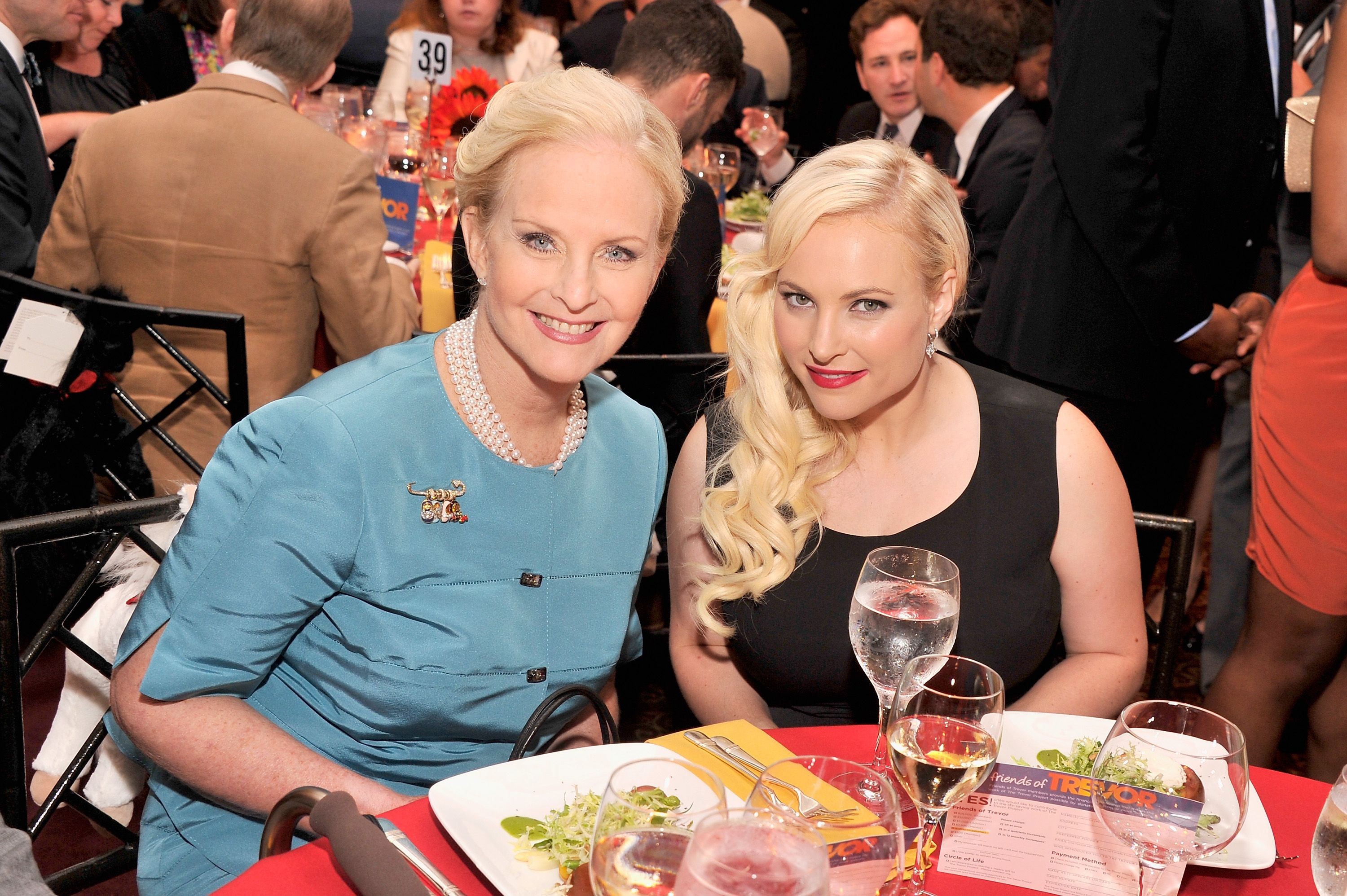 """Cindy Hensley McCain and Meghan McCain during the Trevor Project's 2013 """"TrevorLIVE"""" Event Honoring Cindy Hensley McCain at Chelsea Piers on June 17, 2013 in New York City. 