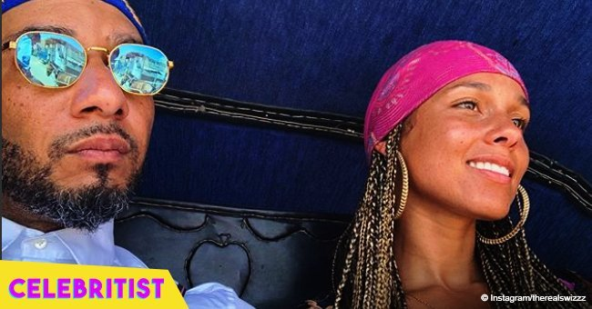 Swizz Beatz shares picture of wife Alicia Keys who stuns in high heels and tight outfit