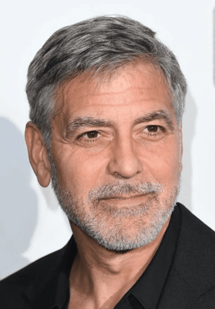 """George Clooney at the """"Catch 22"""" UK premiere on May 15, 2019 in London, United Kingdom. 