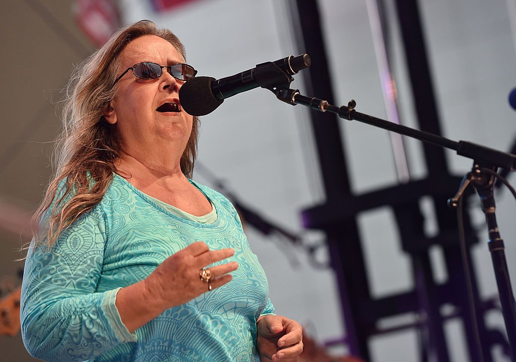 "Singer Tracy Nelson performs during the ""Dylan, Cash, And The Nashville Cats: A New Music City"" album release concert at Country Music Hall of Fame and Museum 