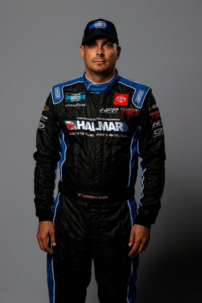 NASCAR driver Stewart Friesen poses for a photo at Daytona International Speedway on February 11, 2021 | Photo: Getty Images