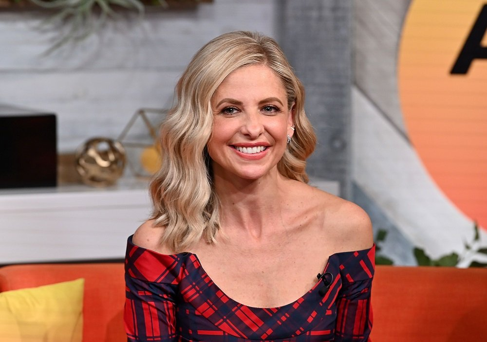 "Sarah Michelle Gellar visiting BuzzFeed's ""AM To DM"" in New York City in October 2019.   