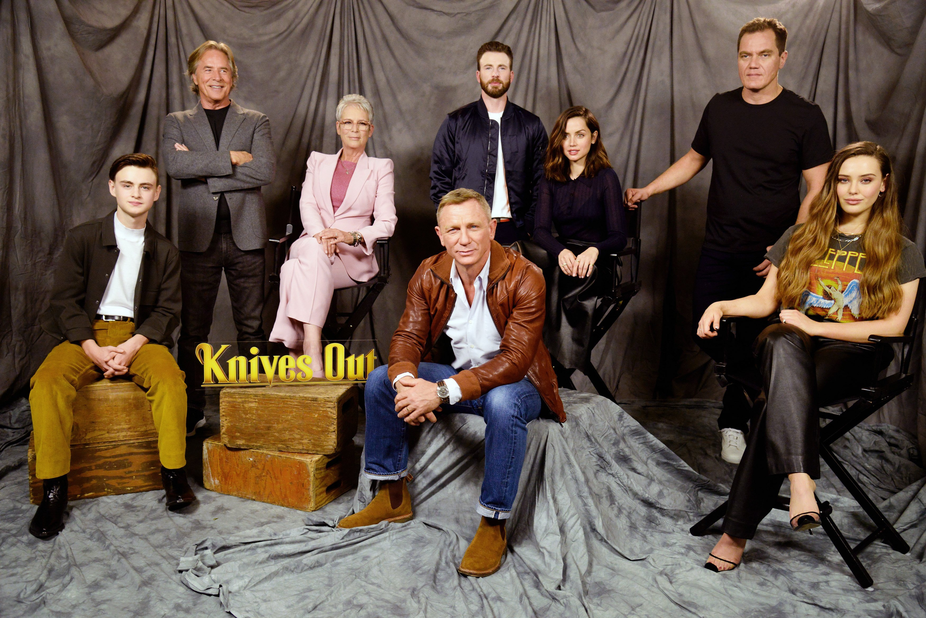 """Don Johnson  at the photocall for """"Knives Out"""" at Four Seasons Hotel Los Angeles 