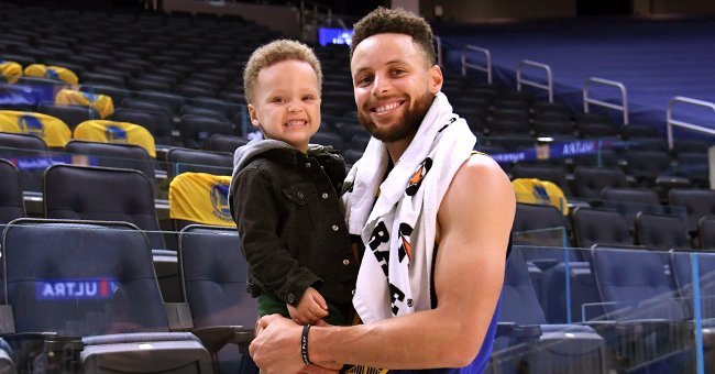 NBA Star Steph Curry Melts Hearts Smiling With His Son Canon Who Looks Like His Exact Copy