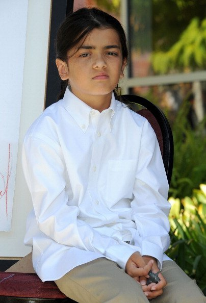 Blanket Jackson attends Children's Hospital Los Angeles Receives Michael Jackson Artwork Donation ceremony on August 8, 2011, in Los Angeles, California.   Source: Getty Images.
