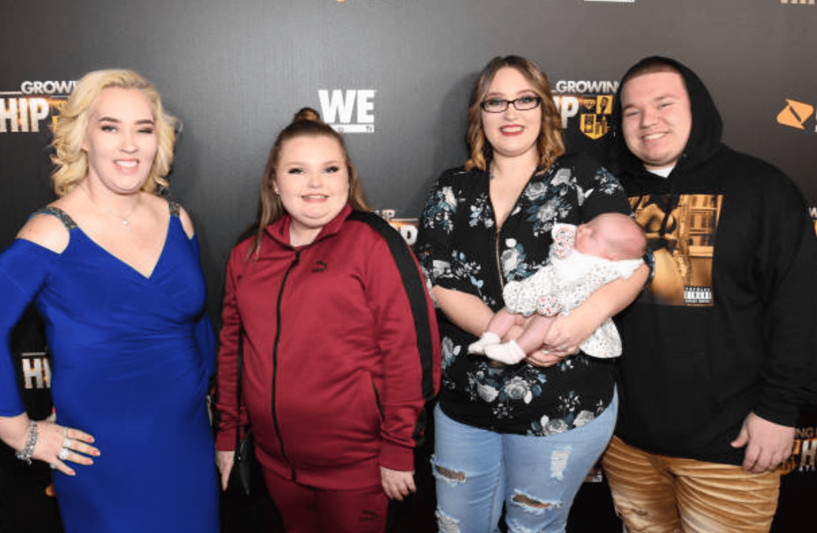 Mama June Shannon, Alana Thompson, Lauryn Shannon and Joshua Efird attend the premiere for 'Growing Up Hip Hop,' Atlanta   Getty Images.