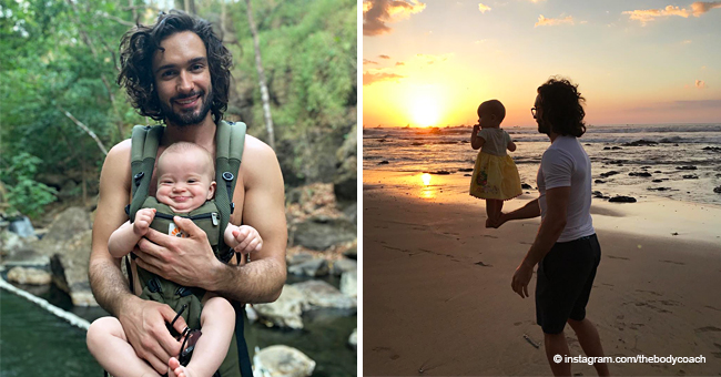 Popular Fitness Coach Sparks Debate after Posting a Pic of Toddler Daughter Balancing on His Arm
