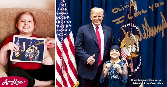 Little girl with brain cancer gets a one-of-a-kind Christmas gift from President Trump