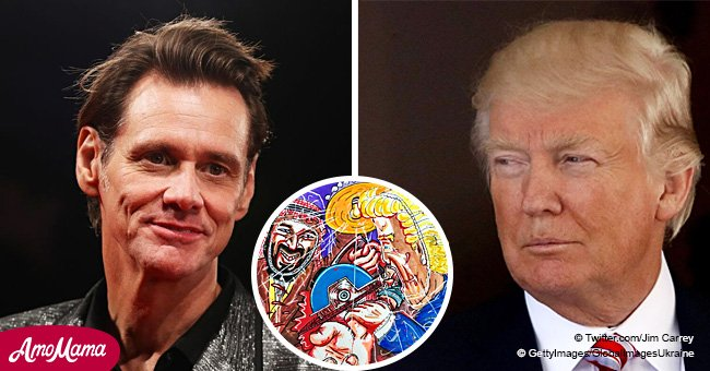 Jim Carrey slams 'tyrant' Trump and his Saudi connection by posting an appalling painting