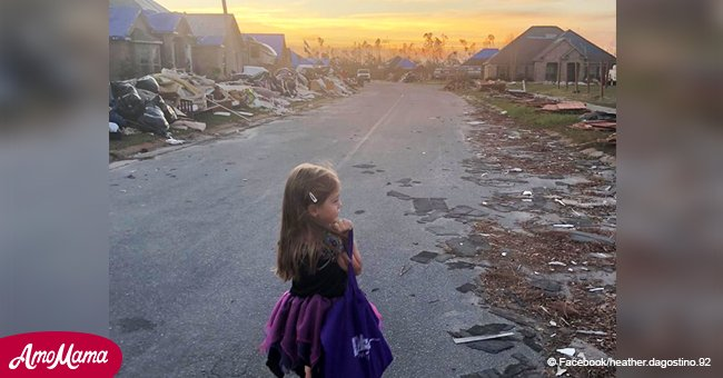 Family goes back to hurricane-stricken city to make sure 4-year-old can trick-or-treat