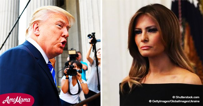 Donald Trump comments on a false story about Melania: 'Fake news is the enemy of the people'