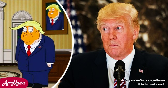 Donald Trump's character being mocked in a famous American cartoon sparks tons of controversy