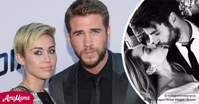 Miley Cyrus officially confirms wedding with 'one millionth kiss' in $8,600 ivory dress