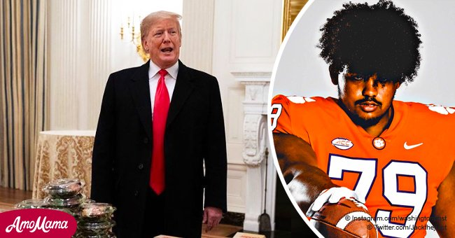Clemson player offered McDonald's meal at White House roasts President Trump